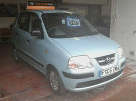 Hyundai Amica, 2006 (06) Blue Hatchback, Manual Petrol, 86,000 miles