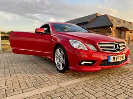 Mercedes Benz E 350 AMG Coupe 2011 (11) Red Automatic Diesel, 81,000 miles