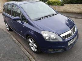 Vauxhall Zafira, 2007 (07) Blue MPV, Manual Diesel, 96,500 miles