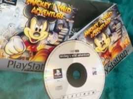 PS1 Disney Mickey's Wild Adventure Game
