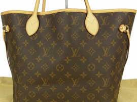 Auth LOUIS VUITTON M40156 Monogram Neverfull MM Shoulder Tote Bag £600