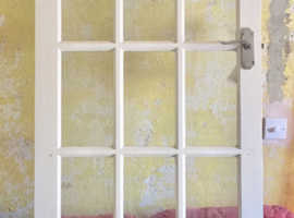 SOLID ALL PINE & GLASS INTERNAL THICK STRONG DOOR FOR SALE WHITE FINISH