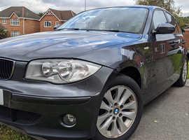 BMW 1 series, 2006 (06) grey hatchback, Manual Petrol, 132,000 miles
