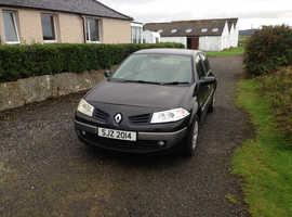Renault Megane, 2006 (56) Black Hatchback, Manual Petrol, 112,660 miles