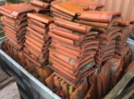 Reclaimed Red Clay Flat Pan Tiles