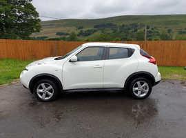 Nissan Juke, 2013 (13) White Hatchback, Manual Petrol, 53,000 miles