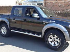 Ford Ranger, 2009 (09) Black 4x4, Manual Diesel, 186 miles
