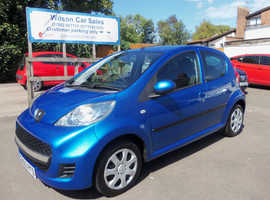 Peugeot 107, 2010 (60) Blue Hatchback, Manual Petrol, 59,000 miles