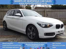 BMW 1 series, 2012 (12) white hatchback, Manual Diesel, 60000 miles