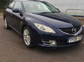 Mazda MAZDA 6, 2009 (09) Blue Estate, Manual Diesel, 175,165 miles
