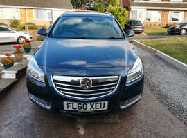 Vauxhall Insignia, 2010 (60) Blue Estate, Manual Diesel, 80,000 miles