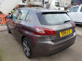 Peugeot 308, 2014 (14) Grey Hatchback, Manual Diesel, 69,078 miles