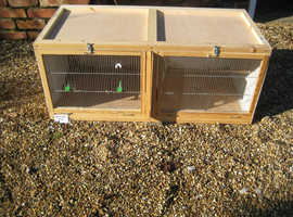 Wooden Double Bird Breeding Cage with Divider