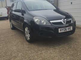 Vauxhall Zafira, 2006 (06) Black MPV, Manual Petrol, 96,702 miles