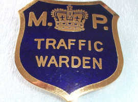 Military Police Traffic Wardens Badge from 1950's-60's ~ Good Condition ~ CASH & COLLECTION ONLY PLEASE