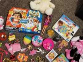 storage bag full of toys