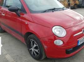 Fiat 500, 2009 (09) Red Hatchback, Manual Diesel, 109,489 miles