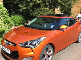 Hyundai Veloster, 2012 (61) orange hatchback, Manual Petrol, 30,000 miles