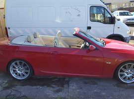 BMW 3 Series, 2008 (58) Red Convertible, Manual Diesel, 76,000 miles