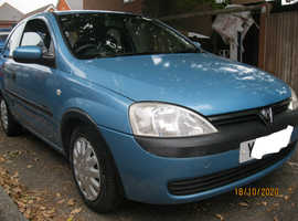 Vauxhall Corsa, 2001 (Y) Low mileage Blue Hatchback, Ideal Firt car