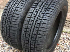 205/60R15 - 91H FATE O AR-35 ADVANCE M+S TYRES x2 good part worn tyres in good condition approx 5-7mm