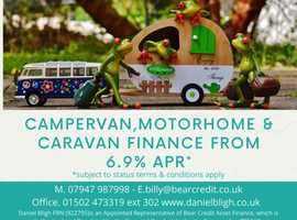 Campervan, Motor Home and Touring Caravan Finance