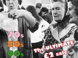 The ultimate £2 Vintage Rummage sale 70s 80s 90s vintage retro clothing & accessories