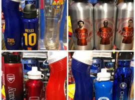 Team bottles and glasses