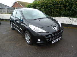 Peugeot 207, 2010 (60) Black Hatchback, Manual Petrol, 62,863 miles