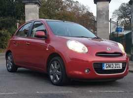 Nissan Micra, 2013 (13) Red Hatchback, Manual Petrol, 22,000 miles