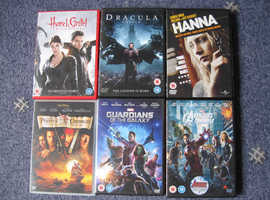 6 DVDS HANNA, PIRATES, GUARDIANS GALAXY, AVENGERS ASSEM, WITCH HUNTERS, DRACULA