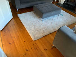 Dark stain pine floor - solid wood.
