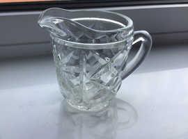 Art Deco glass cream or milk jug 1950 or 1960's