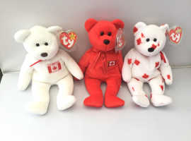 Ty Beanie Baby Canadian Bears Double Tags Rare Retired