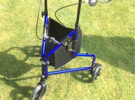 BRAND NEW Three wheel Rollator - Blue