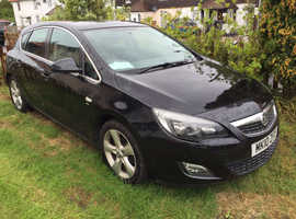Vauxhall Astra, 2010 (10) Black Hatchback, Manual Petrol, 70,000 miles