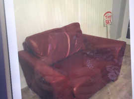 Marks and Spencer large leather Armchair. VGC..FREE TO GOOD HOME.