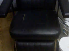 Barber Chair in Black needs re-covering