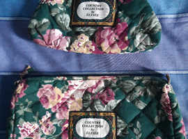 A matching wash bag and make up bag for sale
