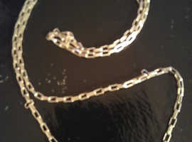 """22"""" 925 silver link chain."""