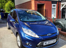 Ford Fiesta, 2009 (09) Blue Hatchback, Manual Petrol, 69,366 miles