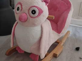 Kids girls owl rocking chair