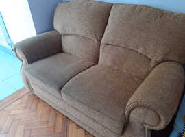 Gold 2 seater sofa by G-Plan