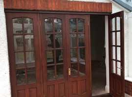 Internal Wooden 4 Part French Folding Door