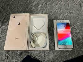 Apple IPhone 8 64gb unlocked gold mobile phone