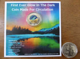 FIRST EVER GLOW IN THE DARK COIN MADE FOR CIRCULATION DANCE OF THE SPIRITS 2017 $2 TOONIE BRILLIANT UNCIRCULATED COIN