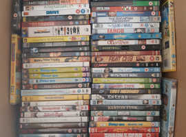 A DVD collection of over 80 DVDs, ideal for boot fair or add to your own collection