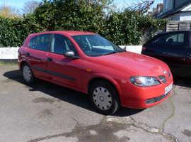 Nissan Almera, 2004 (53) Red Hatchback, Manual Petrol, 71,000 miles
