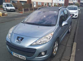Peugeot 207, 2009 (59) Blue Estate, Manual Diesel, 122,000 miles