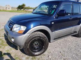 Mitsubishi Shogun, 2004 (04) Blue estate, Automatic Diesel, 96800 miles